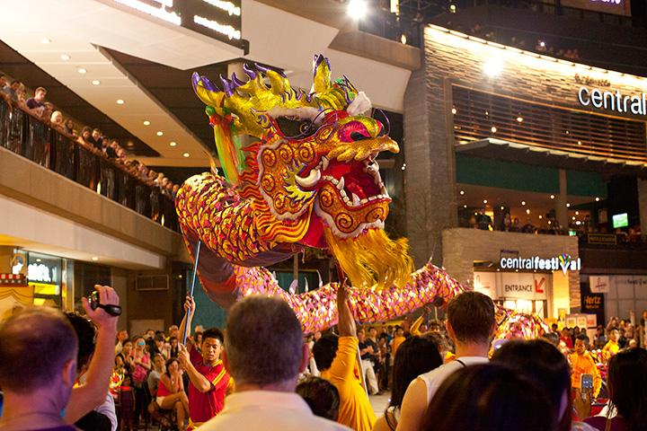 красочный Тайланд - китайский новый год в Паттайе