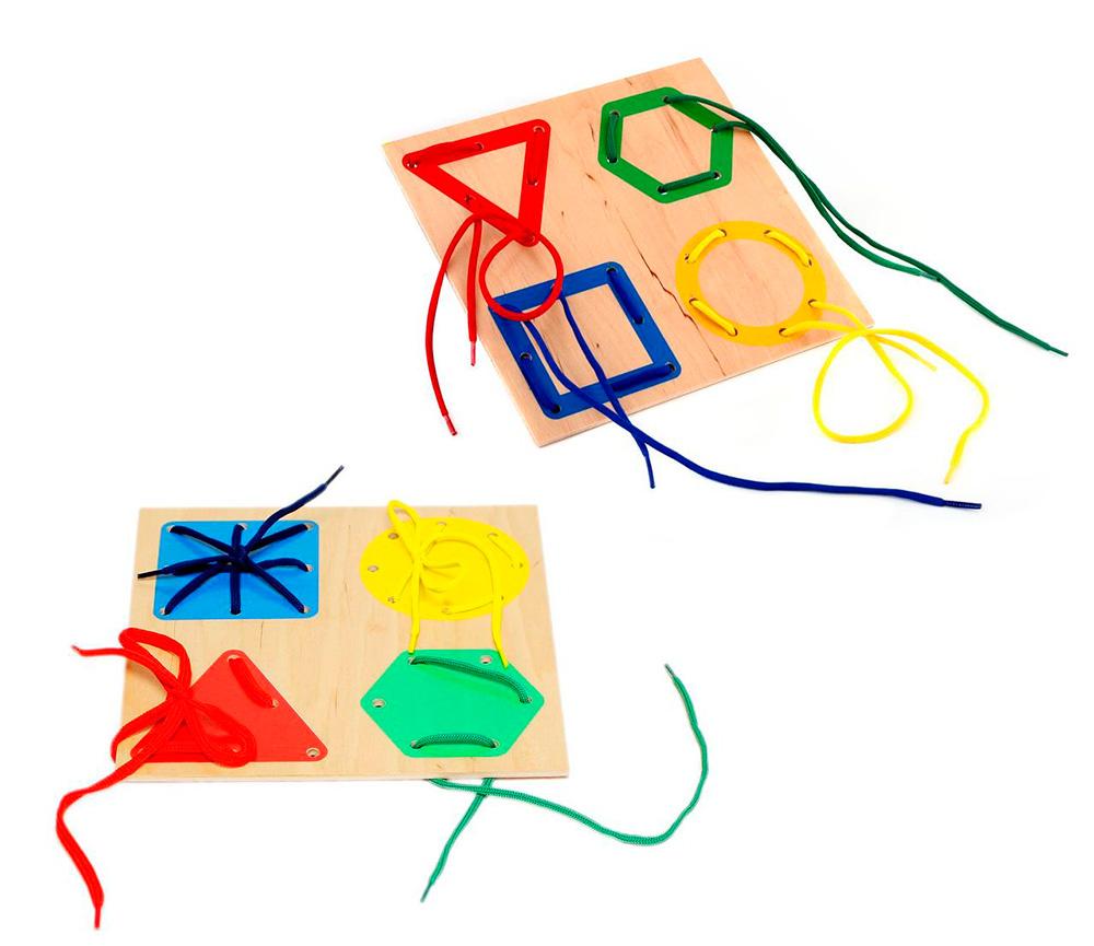 Шнуровки - веселая и полезная игрушка, которую легко сделать и самому