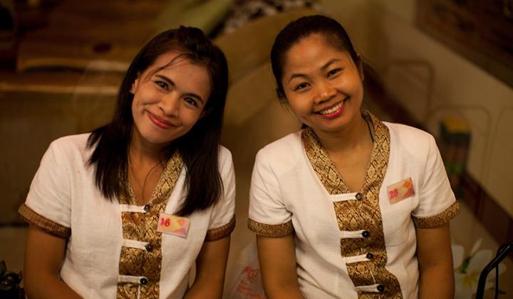 Тайские массажистки очень приветливы!