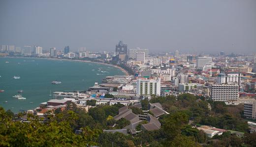 Паттайя. Вид на море со смотровой площадки - фото