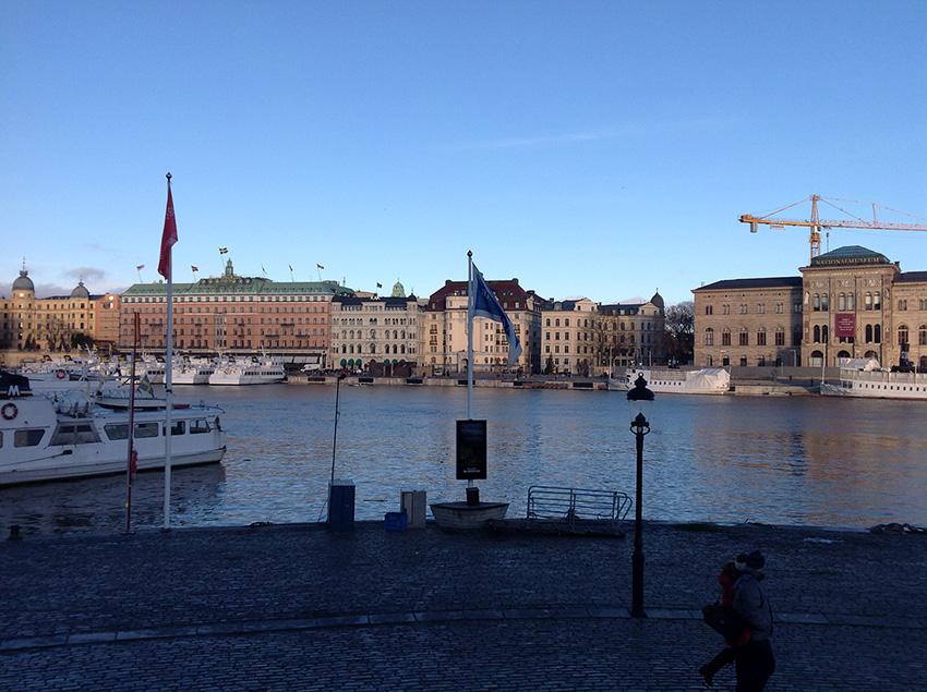 Вид на Старый город с острова Södermalm
