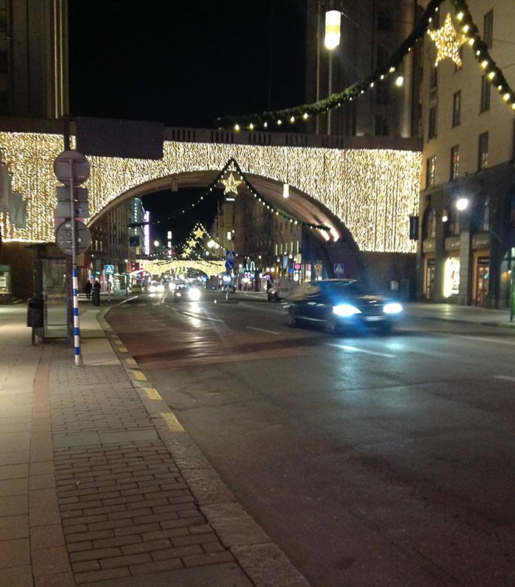Город украшен к Рождеству