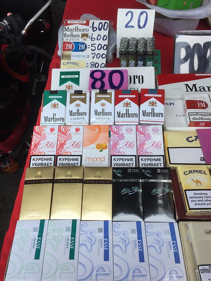 цены на сигареты в Паттайе фото