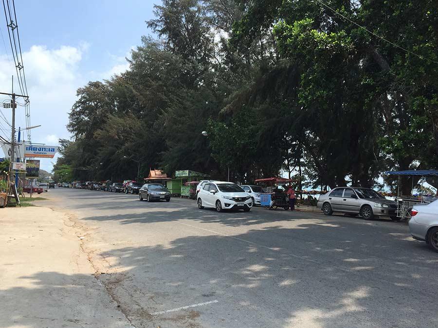 вот так выглядит дорога у пляжей в Районге