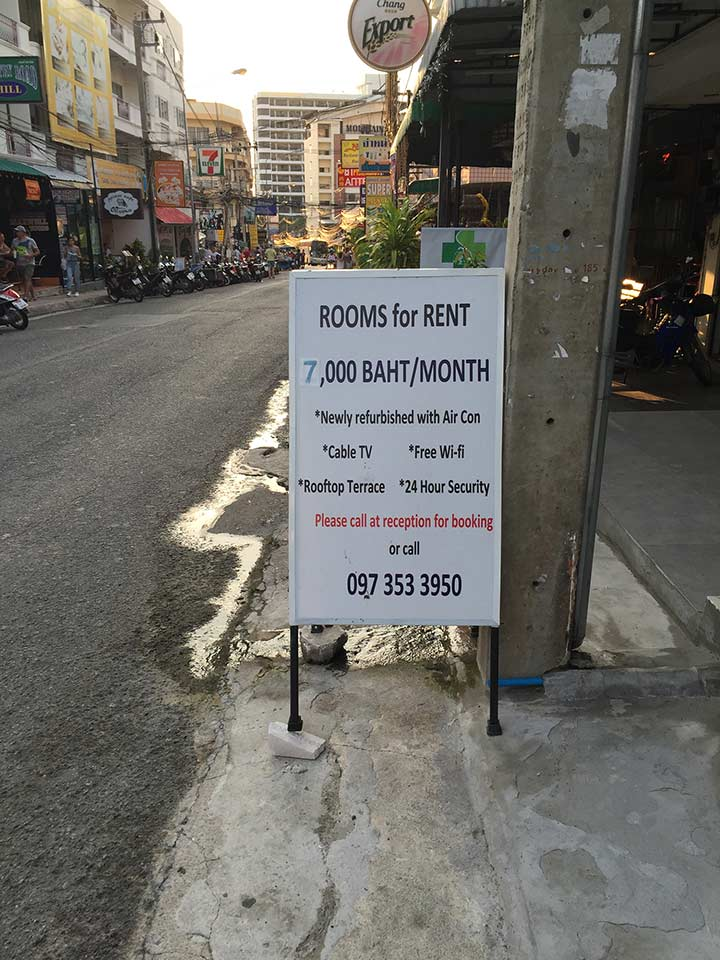 квартиры здесь от 7000 бат за месяц с вайфаем и кондеем