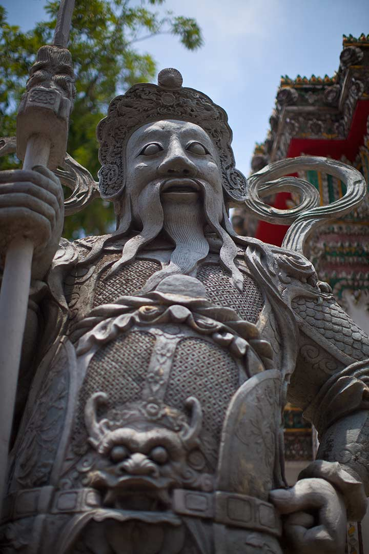китайские хранители Ват Пхо - приехавшие охранять храм в 19 веке