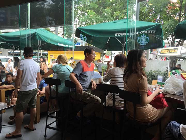 старбакс в бангкоке у новотеля