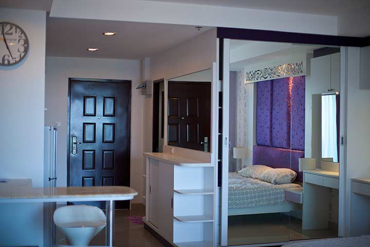 квартира студия в аренду в Паттайе вью талай 7 - фото внутри