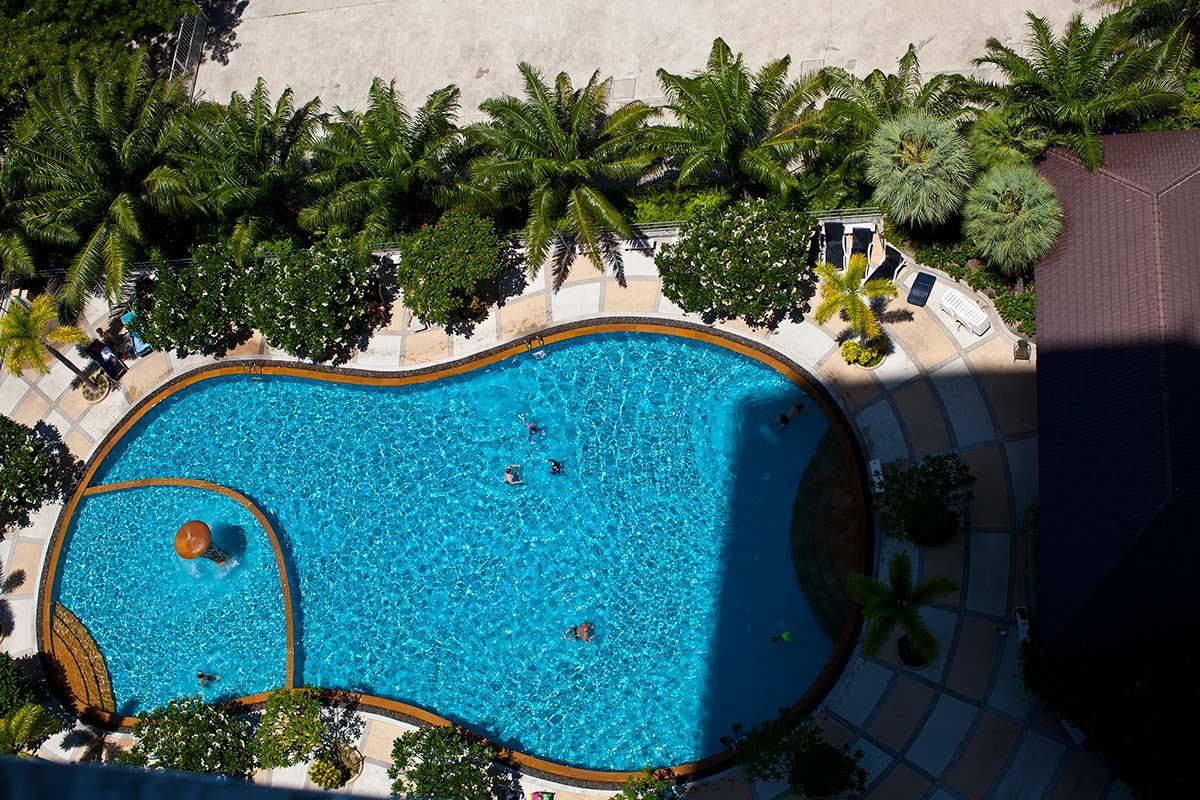 фото бассейна в 7 вью талай, вид сверху