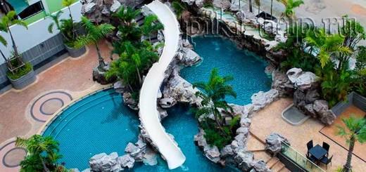 водная горка в the cliff condo фото