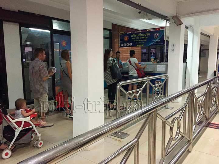 очередь на оплату оверстея при выезде из Таиланда