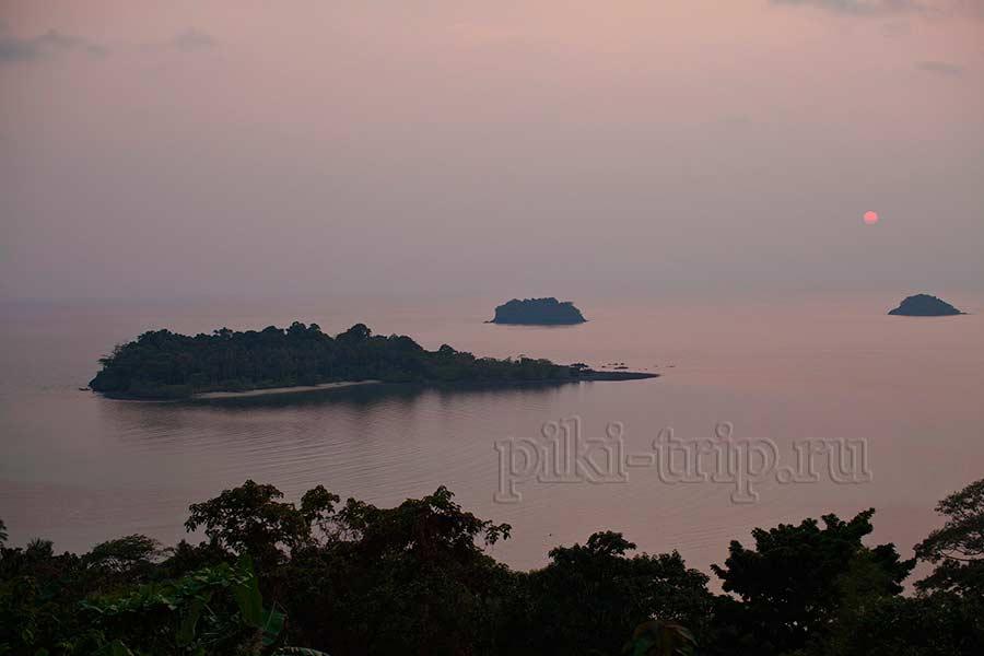 смотровая площадка на острове Ко Чанг во время заката
