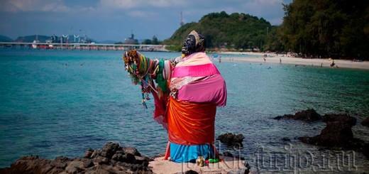 Пляж танцующей девушки в Паттайе Хат Нанг Рам фото