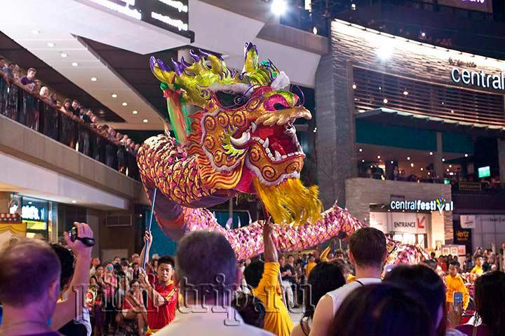 Празднование китайского нового года у централ фестиваля