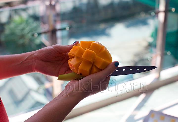ежик из манго фото
