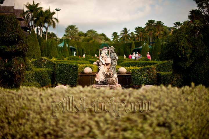 тропрический сад нонг нуч в Паттайе фото