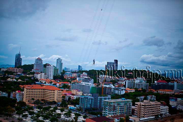 спуск с башни Паттайя Парк фото