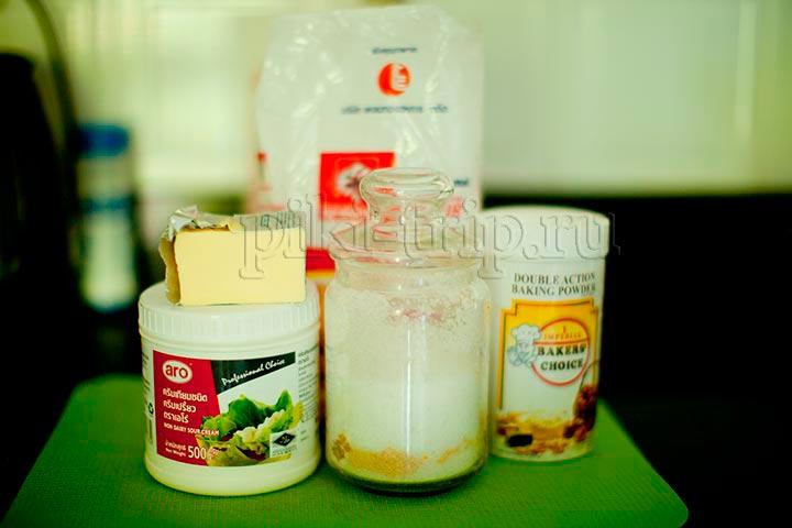 фото ингредиентов для домашнего печенья из творога без яиц