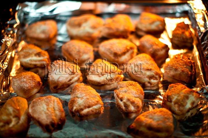 творожные треугольники, домашнее печенье без яиц - готовый результат, фото