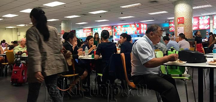 фудкорт аэропорта Бангкока Суварнабхуми