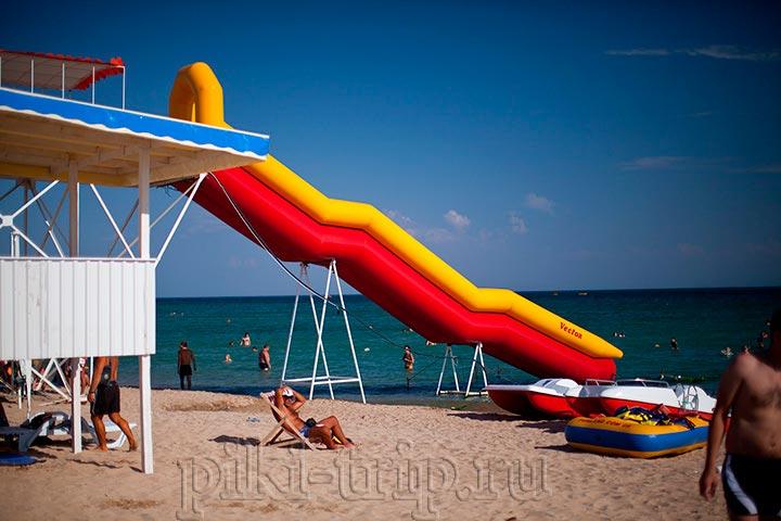 платные услуги пляжа