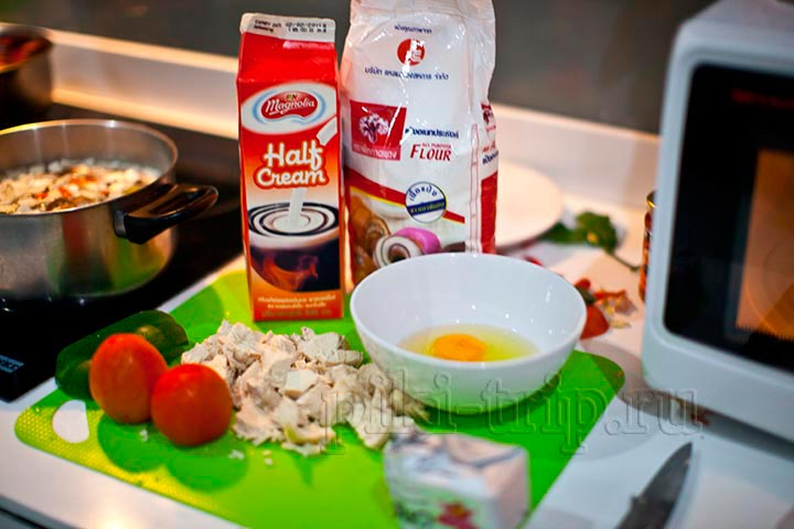 Киш Лорен с курицей пошаговый рецепт с фото