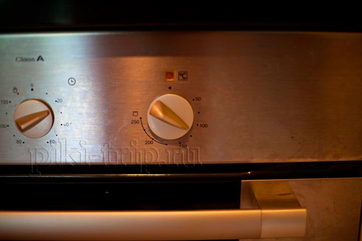 духовку на 100-110 градусов