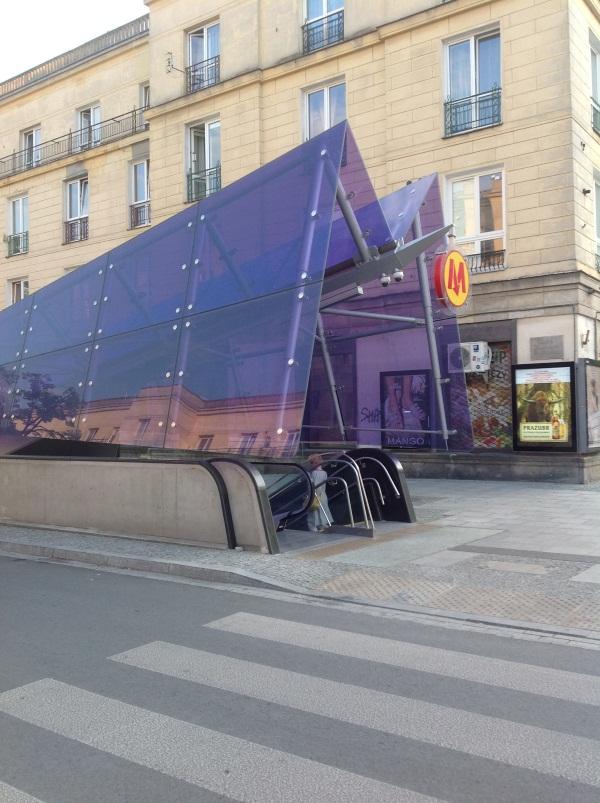 Варшава: так выглядит вход на станцию метро (фото)