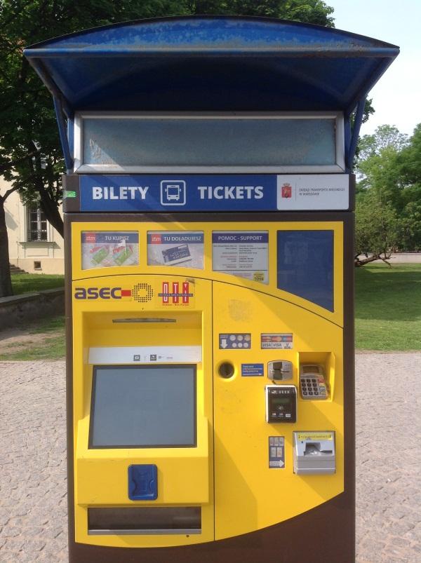 Варшава: билетный автомат (фото)