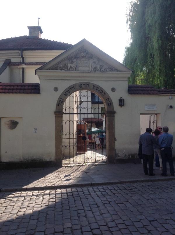Краков достопримечательности: Вход в Синагогу Рему (фото)