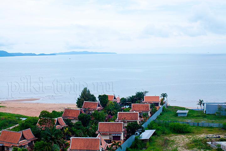 вид с балкона, видно дикий пляж, на который можно ходить, он рядом