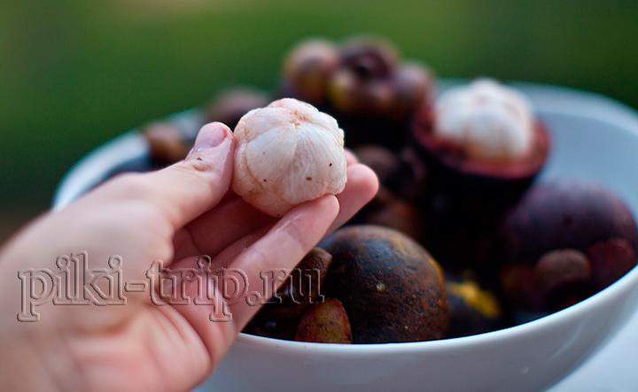 мякоть мангустина - вот так выглядит спелый и сладкий фрукт