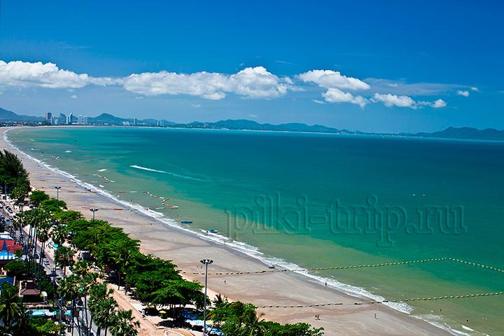 Пляж Донгтан из кондоминиума вью Талай 7