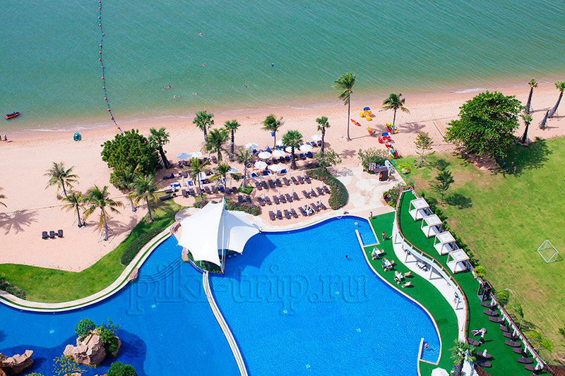 Movenpick Siam Pattaya Hotel 5 пляж и бассейн