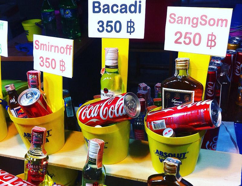 Букет алкоголя в Тайланде