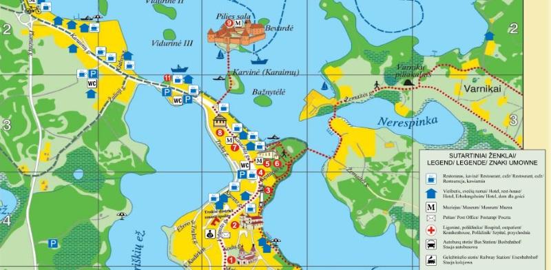 Карта Тракая (фото)