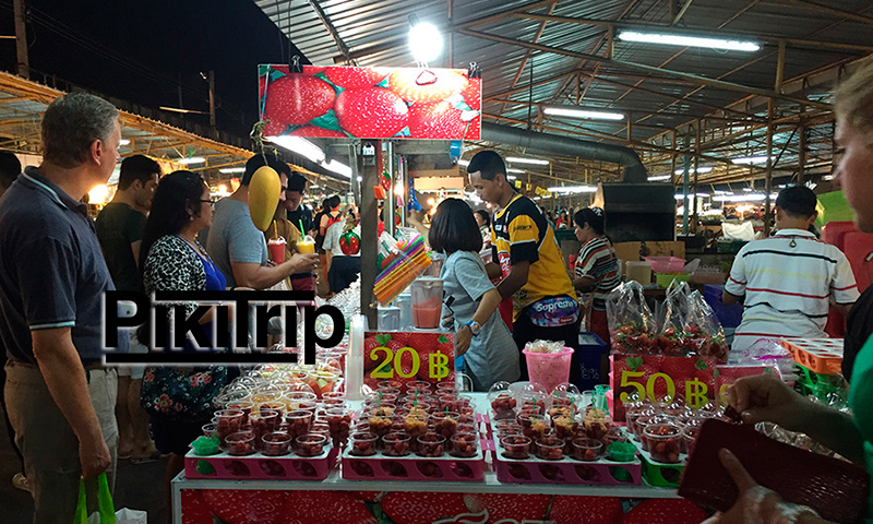 клубника в феврале на рынке Теппразит
