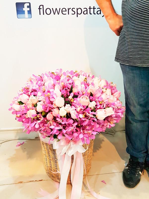цветочная корзина в Паттайе
