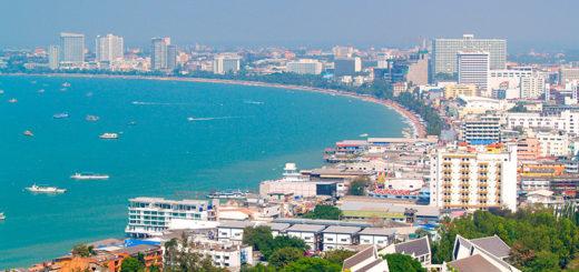 Вид на Паттайю с пирса Бали Хай