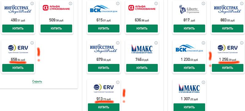 страховка ЕРВ на Кипр