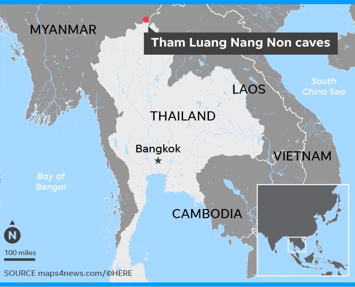 Пещера Тхам Луанг в Таиланде где пропали дети