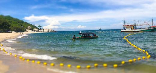 В Хуа Хине на пляже установили сеть от акул