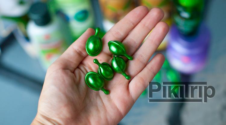 тайские ампулы для волос с витаминами и маслами