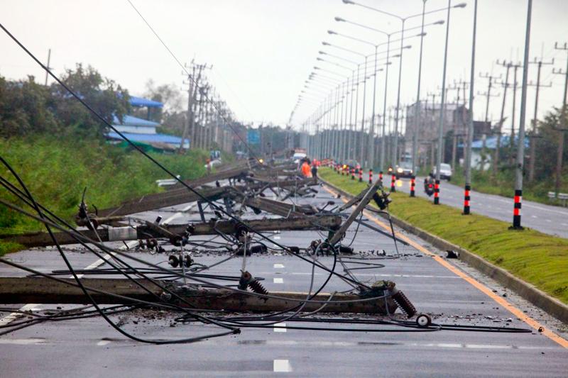 Тайфун в Таиланде - последствия