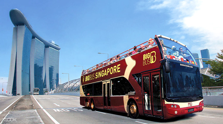 Экскурсионный автобус в сингапуре
