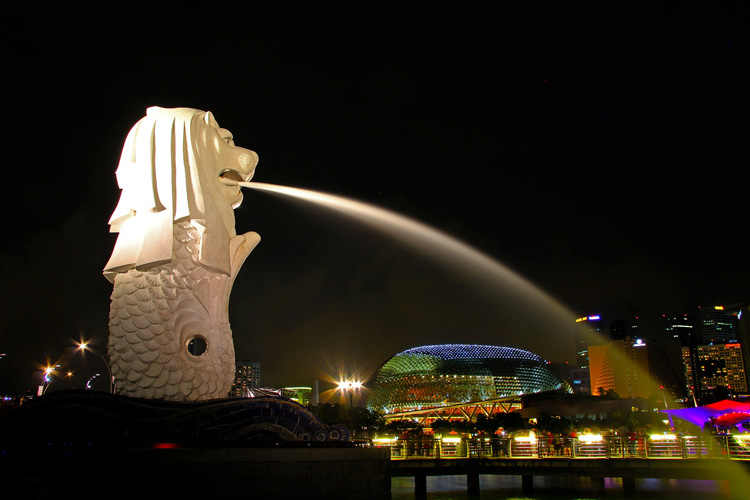 Мерлион в Сингапуре