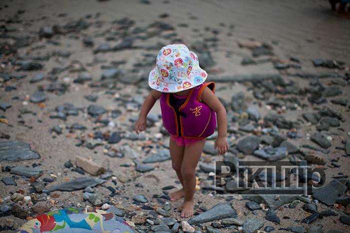 список на море с ребенком