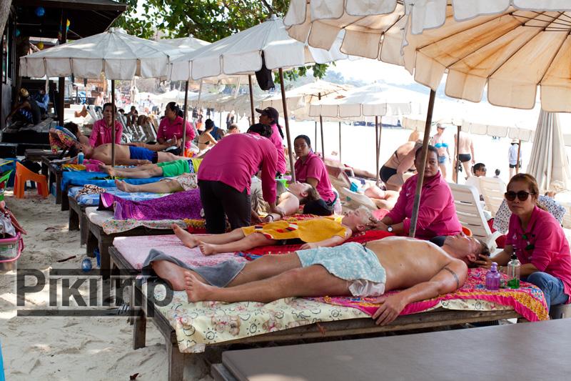 массаж на пляже Самет