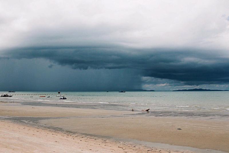 вот такая погода была перед отплытием