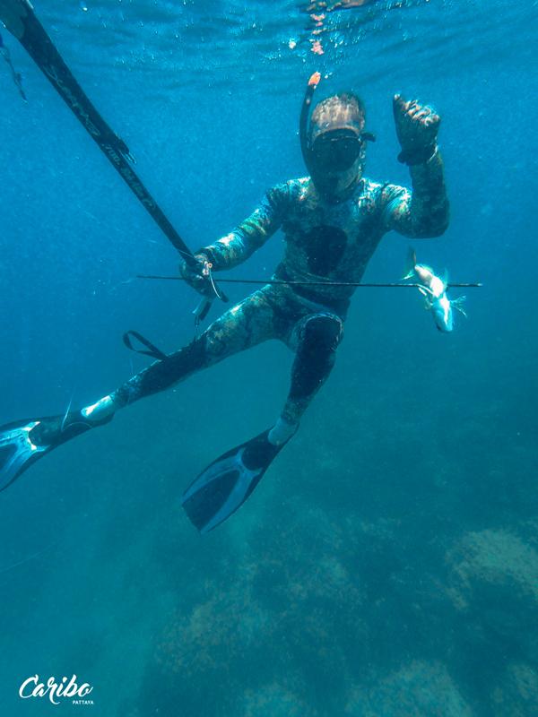 подводная охота на Карибо